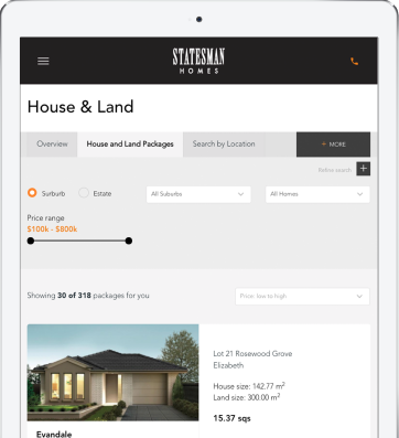 House & Land Package Management